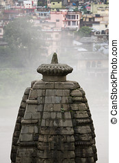 Indian architecture - Building against foggy background
