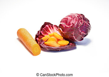 Radicchio and carrots source of vitamins