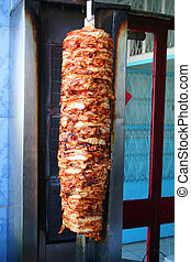 doner kebap - turkish doner kebap at restaurant