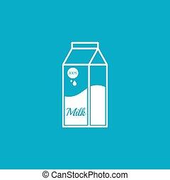 Paper bag with milk.