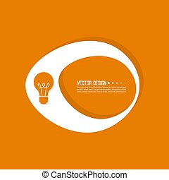 Abstract geometric shape banner with icon light bulb. Vector...