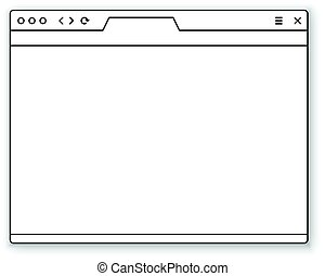 Browser window template. Past your content into it