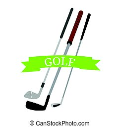 Group of golf clubs - Isolated group of golf clubs, Vector...