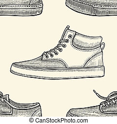 seamless pattern of shoes
