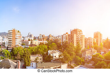 Resedential neighborhood in Providencia - Panoramic view of...