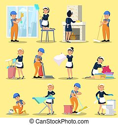 Cleaning Company Icons Collection