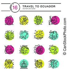 Ecuador symbols Vector - Different symbols of an Ecuador...