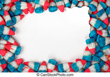 red white blue candy corn - patriotic candy corn frame with...