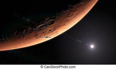 Spaceship Leaving Mars