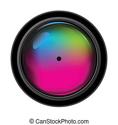 Realistic digital camera lens