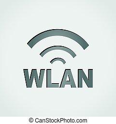 wlan icon design - Illustration of wlan icon design