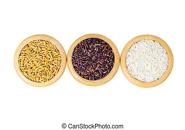 The Different of set rice.