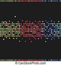 Colorful retro dots