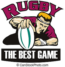 rugby player ball try best game