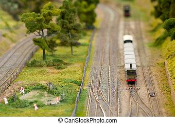 miniature freight train