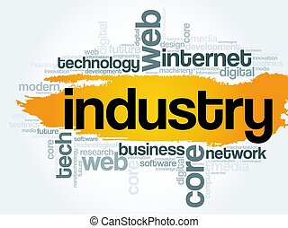 Industry word cloud, technology concept