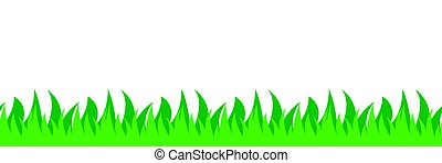 Seamless grass field illustration - Seamless left to right...