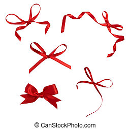 red ribbon celebration christmas birthday - collection of...