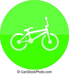 Circle icon - BMX bicycle - BMX bicycle icon in flat color...