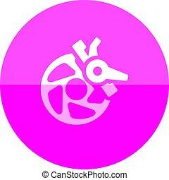 Circle icon - Bicycle brake - Bicycle brake icon in flat...
