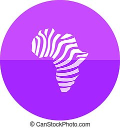 Circle icon - Africa map striped