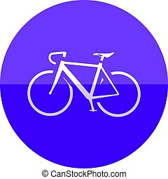 Circle icon - Road bicycle - Road bicycle icon in flat color...
