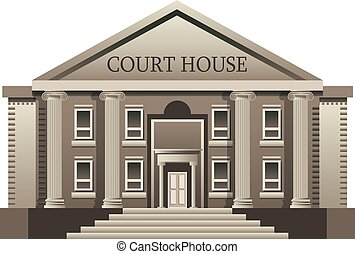 Court House isolated. Vector illustration on white...