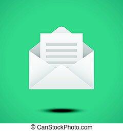 Open envelope for letter