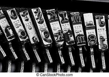 types of a typewriter - types of an old typewriter. symbol...