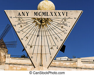 sundial in palma, mallorca - a sundial in the city of palma...