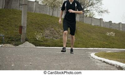 Jogger Starts to Run
