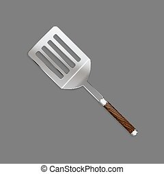 Shovels, skimmer with a beautiful wooden handle for cooking...