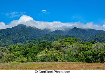 Rincon de la vieja vulcano and clouds - Panoramic view of...