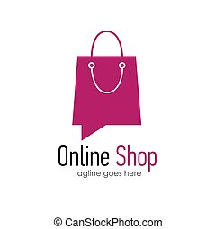 Online shop logo design template