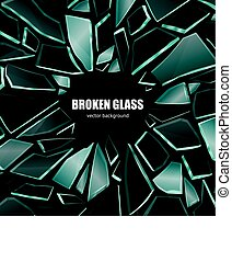 Broken Black Glass Background Poster - Broken glass dark...