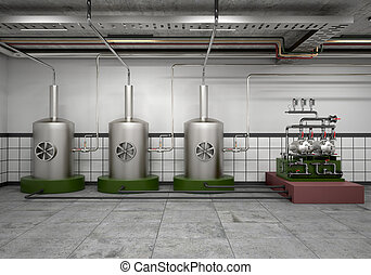 premises for the distillation vessel and equipment stainless...