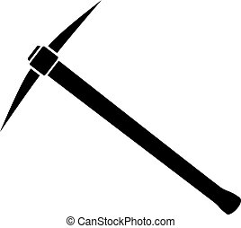 Silhouette of Pickaxe vector illustration