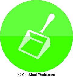 Circle icon - Dustpan - Dustpan icon in flat color circle...