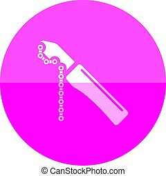 Circle icon - Chain whip - Chain whip icon in flat color...