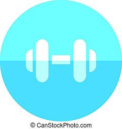 Circle icon - Dumbbell - Dumbbell icon in flat color circle...