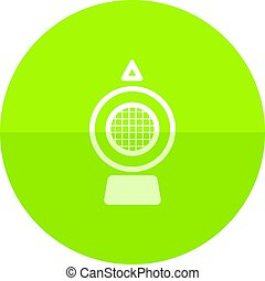 Circle icon - Hazard light - Hazard light icon in flat color...
