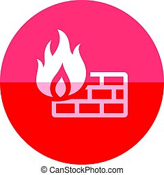 Circle icon - Firewall - Firewall icon in flat color circle...
