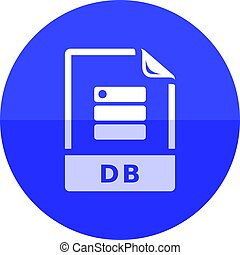 Circle icon - DB File format - DB File format icon in flat...