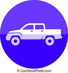 Circle icon - Truck small - Car icon in flat color circle...