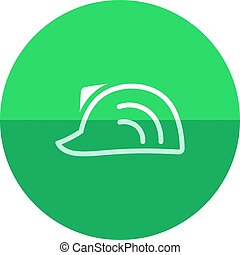 Circle icon - Hard hat - Hard hat icon in flat color circle...