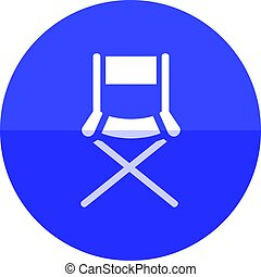 Circle icon - Movie director chair