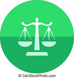 Circle icon - Justice scale - Justice scale icon in flat...