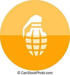 Circle icon - Grenade - Grenade icon in flat color circle...
