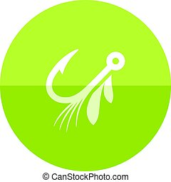 Circle icon - Fishing lure - Fishing lure icon in flat color...