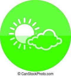 Circle icon - Forecast partly sunny - Weather forecast...